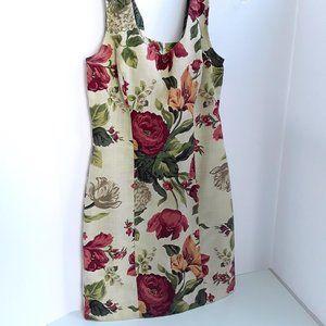 Vintage 1990's Rampage Botanical Sofa Print Dress